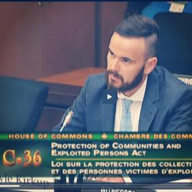 Kyle appearing before the House of Commons Standing Committee on Justice and Human Rights | July 2014