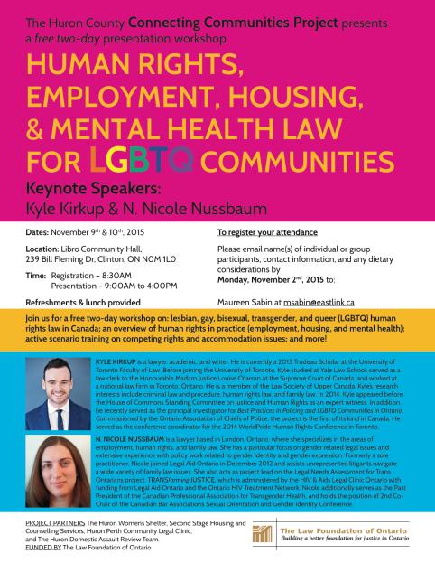 LGBTQ Workshop November 9-10